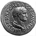 Coin with the image of the Emperor Galba