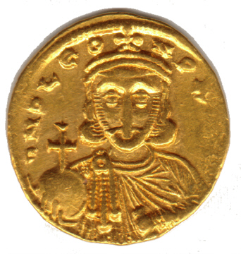 Coin portrait of Leo III (c)2000 Chris Connell