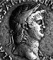 Coin with the image of the Emperor Nero