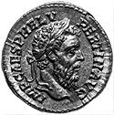 A coin with the image of the Emperor Pertinax