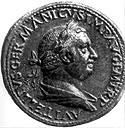 Coin with the image of the Emperor Vitellius