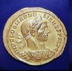 Coin with the image of Aurelian (c)1999 Princeton Economic Institute