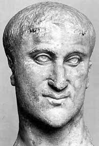 A Bust of the Emperor Constantius I Chlorus