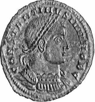Coin with the image of Constantius II (c)1998 CGB numismatique, Paris