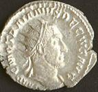Coin with the image of Trajan Decius (c)2002, VCRC.