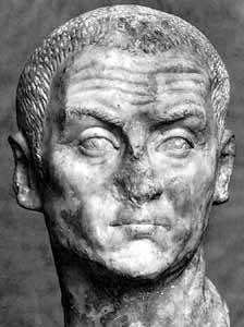 A Bust of the Emperor Diocletian