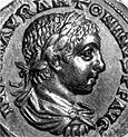A coin with the image of the Emperor Elagabal