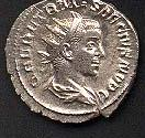 Coin with the image of Herennius Etruscus (c)2001 VCRC