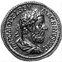 Coin with the image of Macrinus