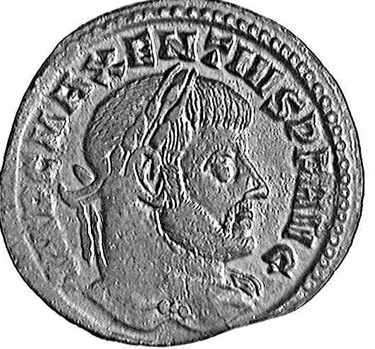 Coin with theimage of Maxentius (c)1998 CGB numismatique, Paris