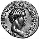 Coin with the image of the Emperor Otho