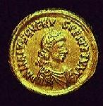 A coin of Libius Severus (c)1998, Princeton Economic Institute