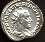 Coin with the image of Trebonianus Gallus (c)2002 VCRC
