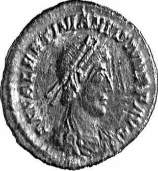A coin with the image of the Valentinian II (c)1998 CGB numismatique, Paris