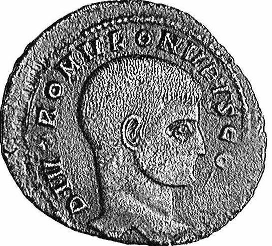 Coin with the image of Valerius Romulus (c)1998 CGB numismatique, Paris
